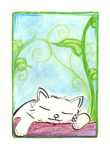 Dreaming cat, by the Child