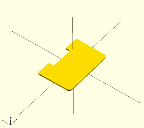 OpenSCAD Drawer Divider Model