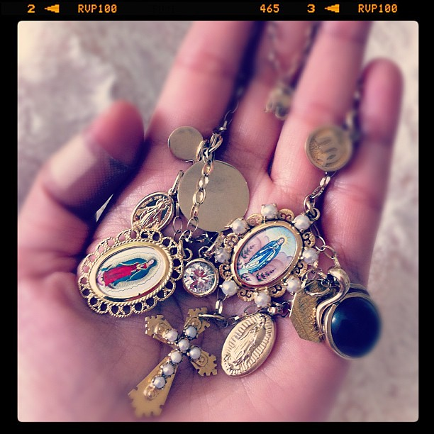 Privilege. To work with my friend's personal collection of charms, mixed with some of mine. #febphotoaday #hand #jewelry