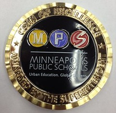 Minneapolis school challenge coin