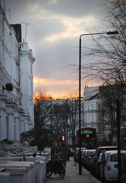 Dusk near Portobello Road