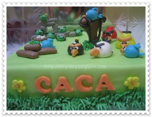 Angry Bird Cake for Caca by DiFa Cakes