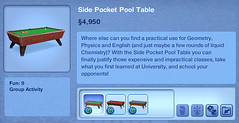 Side Pocket Pool Table