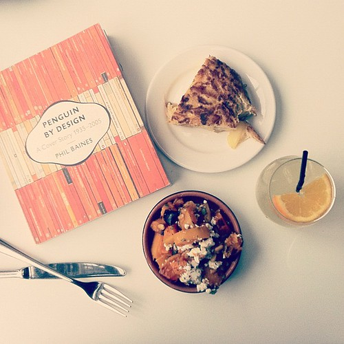 I took a lunch break today, went to my favourite cafe and ate/read orange things. by oysterpots