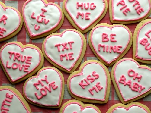 MF Conversation Heart Cookies