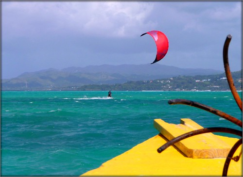 Kite Surfing in the Caribbean by Ginas Pics