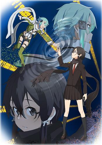140318(2) - 電視動畫續集《Sword Art Online刀劍神域 II – 幽靈子彈篇》公開第二張海報、預定7月首播!