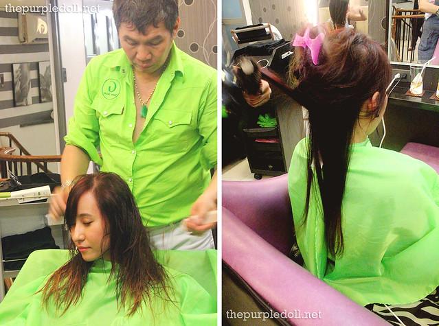 Haircut and blowdry at Louis Phillip Kee Premier Salon