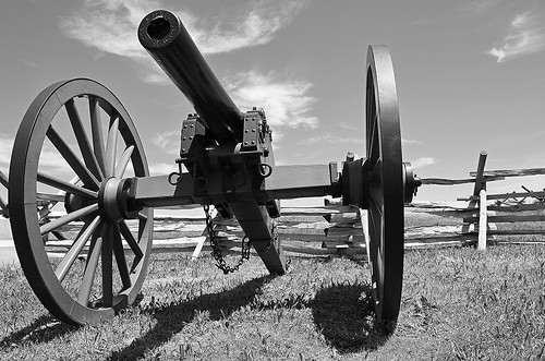 Battlefield Here and There ... Cannon, Gettysburg, Pennsylvania USA