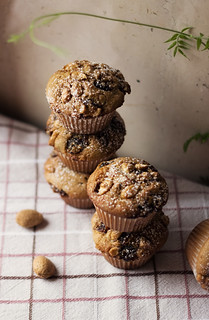 muffin with cranberries and almonds