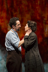Christopher Tarjan and Christina Pumariega in the Huntington Theatre Company production of Melinda Lopez's stirring new drama BECOMING CUBA directed by M. Bevin O'Gara, playing March 28 - May 3, 2014 at the South End / Calderwood Pavilion at the BCA. Photo: T. Charles Erickson