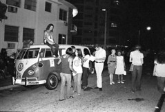Miami Residents Mix with Protesters: 1972