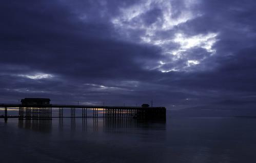 sea seascape beach wales clouds sunrise reflections dawn coast pier penarth samsungnx20 tyronerose