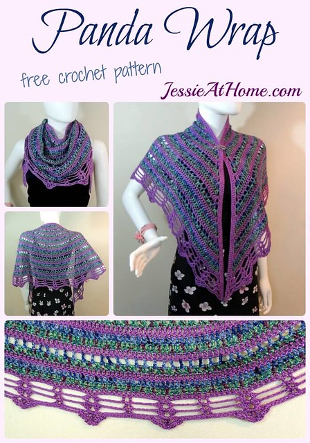 Panda Wrap - free crochet pattern by Jessie At Home