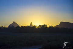 Sunset in Glasshouse Mountains