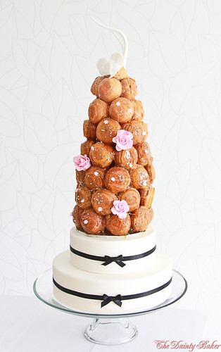 Croquembouche wedding cake-12