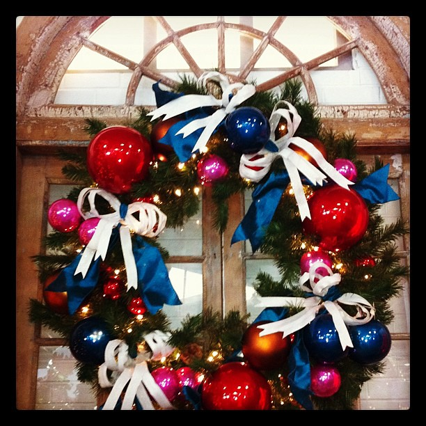 Project 365 326/365: Love this wreath that I saw at @TaiPanTrading aka TPT Home. Gorgeous!