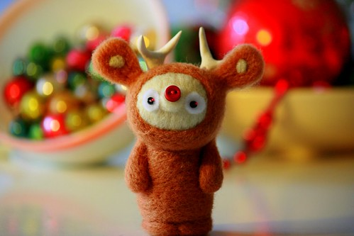 Little Deer amidst Christmas