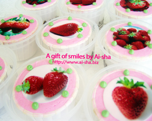 Strawberry Cupcakes Edible Image