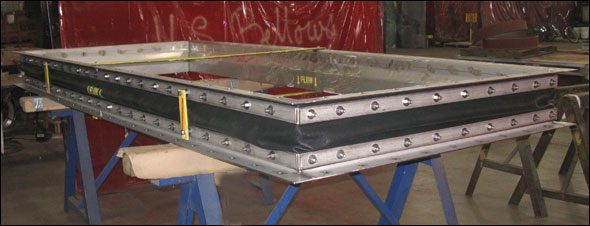 High Temperature Fabric Expansion Joint Designed for an Exhaust Duct