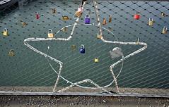 Schlösser auf Salzburger Fußgängerbrücke