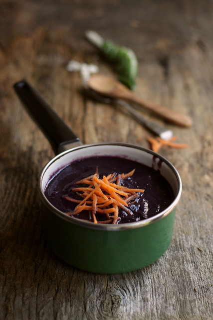 Black carrot soup