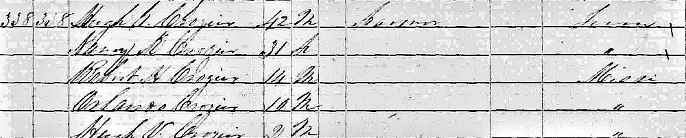 Reverend Robert Haskins Crozier, D.D. 1850