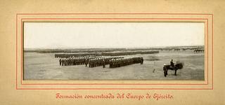 Formacion Formacion concentrada del Cuerpo de Ejercito.