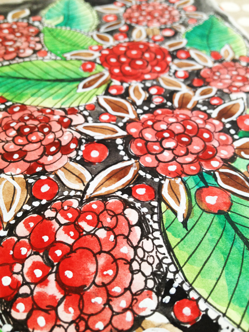 a peek inside my sketchbook- holiday pattern