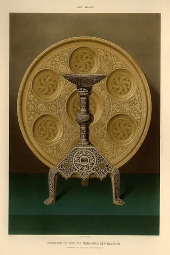 019-Antorcha y bandeja de Alcarazas-L'art arabe d'apres les monuments du Kaire…Vol 3-1877- Achille Prisse d'Avennes y otros.