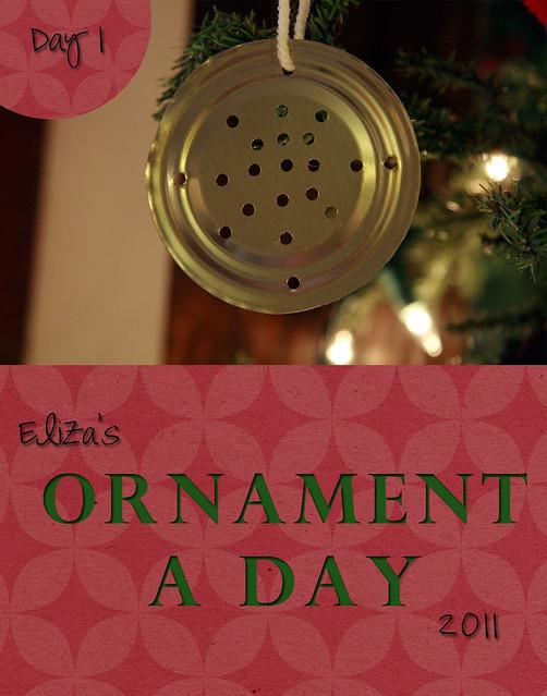 Eliza's Ornament a Day: Day 1