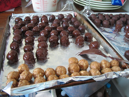 chocolate peanut butter truffels