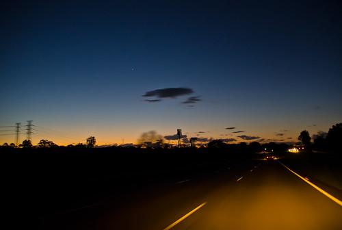 blue trees sunset sky cloud tower field car star nikon highway great sydney headlights western mm transmission 18105 d7000