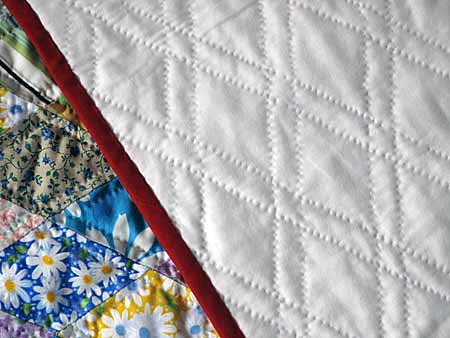 Amish Hand Quilting, my binding