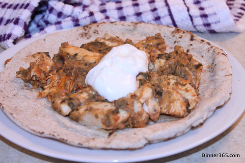 Day 337 - Chicken Mung bean on Pita