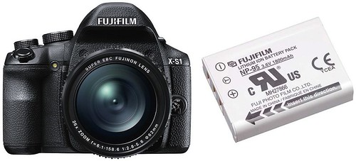 Fujifilm X-S1 plus NP-95 -- Battery Life