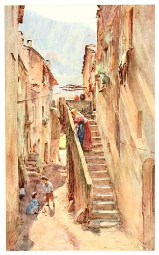 011- Callejon del Ponte en Albenga-An artist in the Riviera (1915)-Walter Tyndale