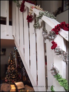 Christmas Garland On The Bannister