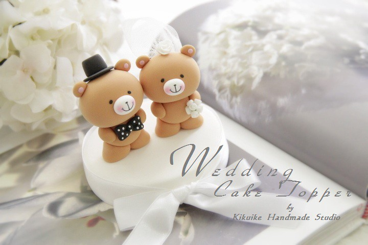 Wedding Cake Topper Love Bear