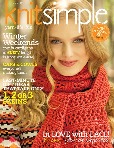 My Lace-Panel Wrap on the cover!
