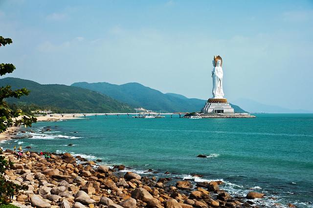 201111海南景色__南海观音,南山寺海边
