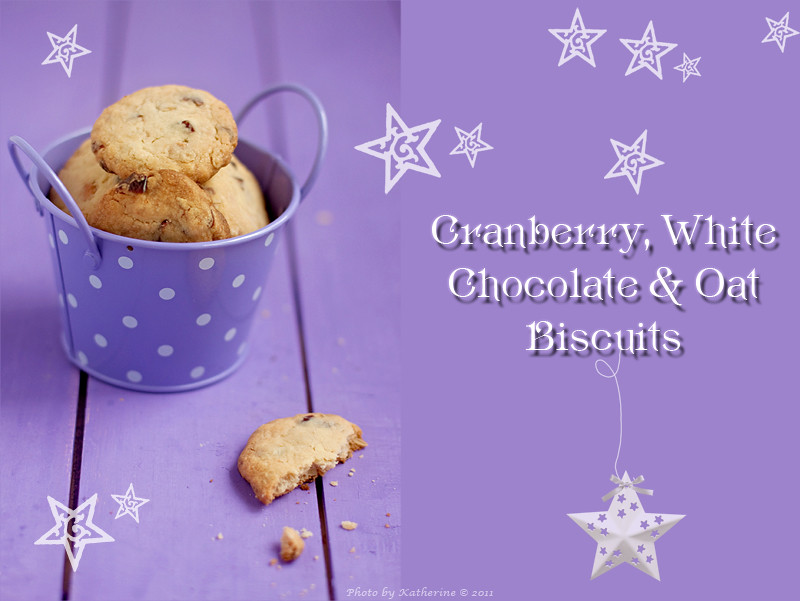 Cranberry, White Chocolate & Oat Biscuits