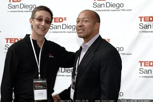 TEDx San Diego founder Jack Abbott with Dwayne Gathers    MG 3773