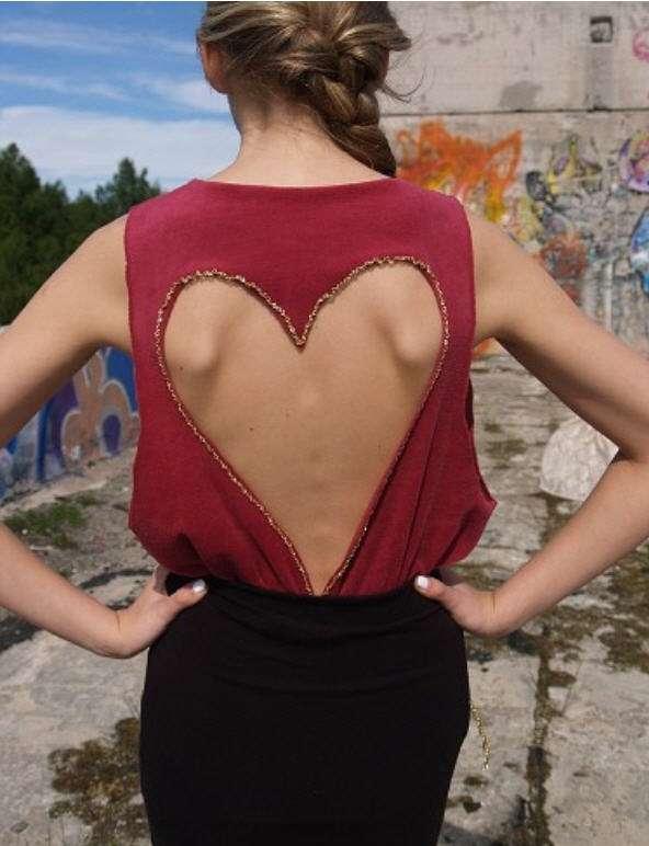 hannaliis-ruuven heart cut out shirt