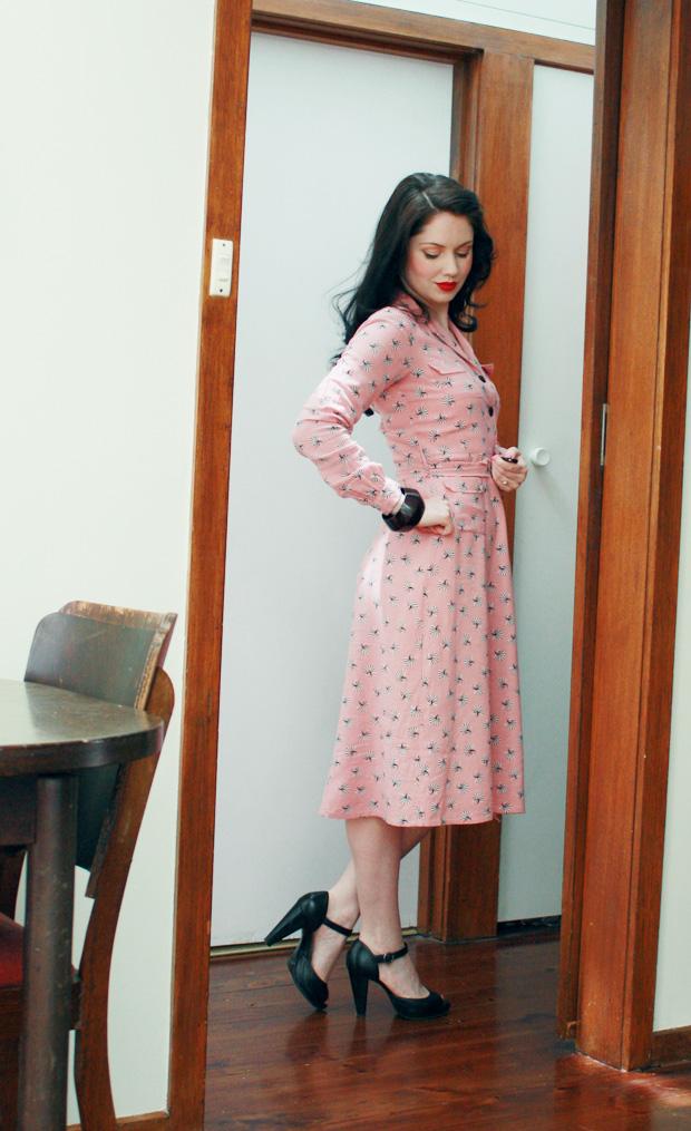 1930s shell dress c