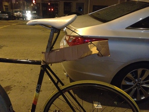 Fender bike hack!