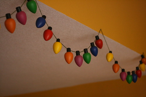 wooden christmas lights.