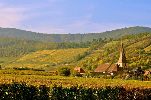 france church landscape geotagged countryside vineyard october europe village alsace paysage campagne vignes vignoble église octobre clocher hautrhin niedermorschwihr clochervrillé michelemp fleursetpaysages geo:lat=4809816594639797 geo:lon=7276326124359116 twistedchurchtower