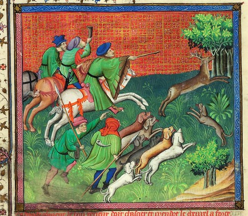 010-Le Livre de la chasse-1407- Gaston Phoebus- MS M. 1044 – fol 77v-detalle -© The Morgan Library & Museum