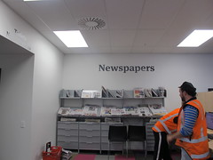 Newspapers section at Peterborough library